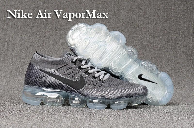 35ab2a8c223c Nike Flyknit Air VaporMax 2018 Men s Running Shoes White Light blue ...
