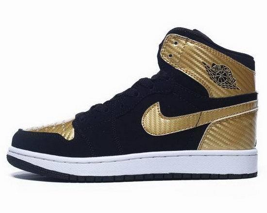 cheap for discount 1ce39 5cec3 Womens Air Jordan Retro 1 Gold Black Hong Kong