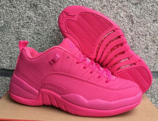 online retailer d52dc e86cb Womens Air Jordan Retro 12 Low All Pink Discount Code