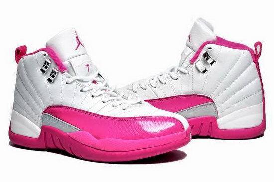 nouveau style 4e54c d775c Womens Air Jordan Retro 12 White Pink France [nike-17034389 ...