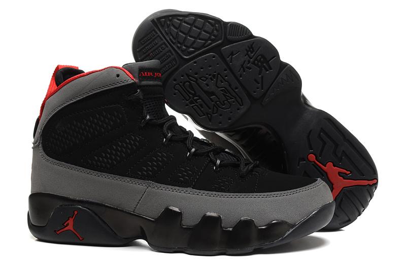 d50f3571879920 Mens   Womens (unisex) Air Jordan Retro 9 Black Grey Red On Sale ...