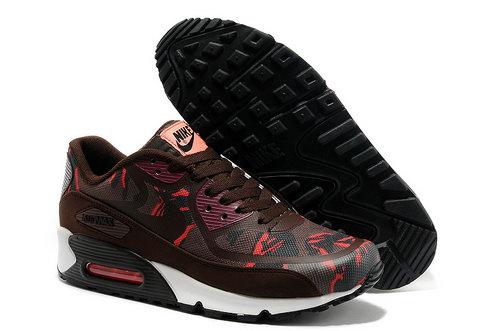 42a47a08a2c Wmns Nike Air Max 90 Prem Tape Sn Men Red And Brown Running Shoes Sweden