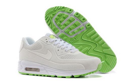 reputable site e78c1 a451d Nike Air Max 90 Kpu Tpu Mens Shoes All White Green Netherlands