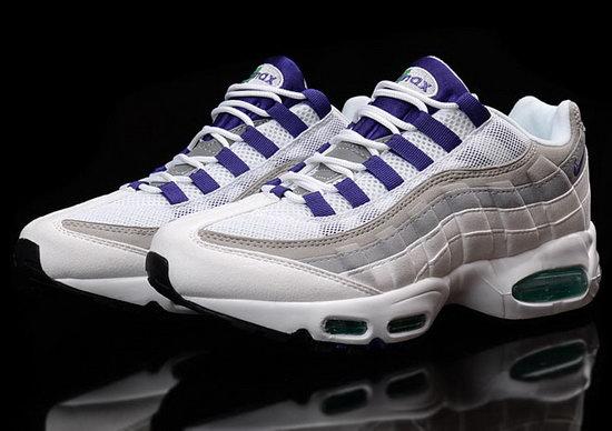 check out df595 5516e Mens Nike Air Max 95 White Purple 40-45 France