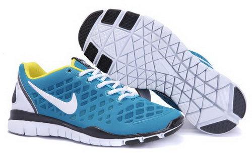 the best attitude a6c98 28326 2012 Nike Free Run Tr Fit Men Shoes Blue White Cheap